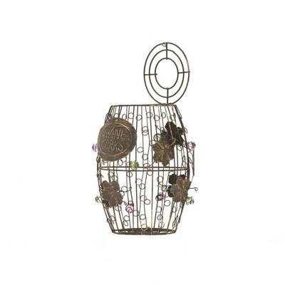 Mind Reader Wine Barrel Cork Holder, Bronze