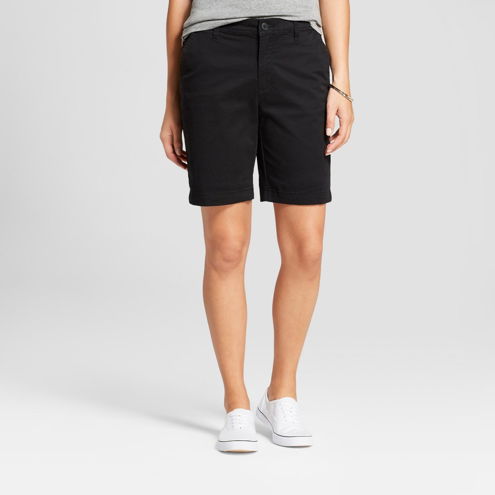 "Women's 7"" Chino Shorts - A New Day Black 16"