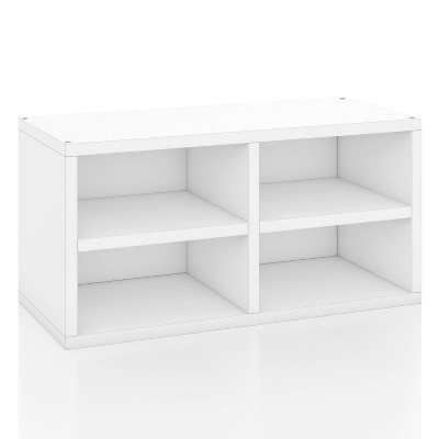 Way Basics Eco Stackable Connect Rectangle Shelf White