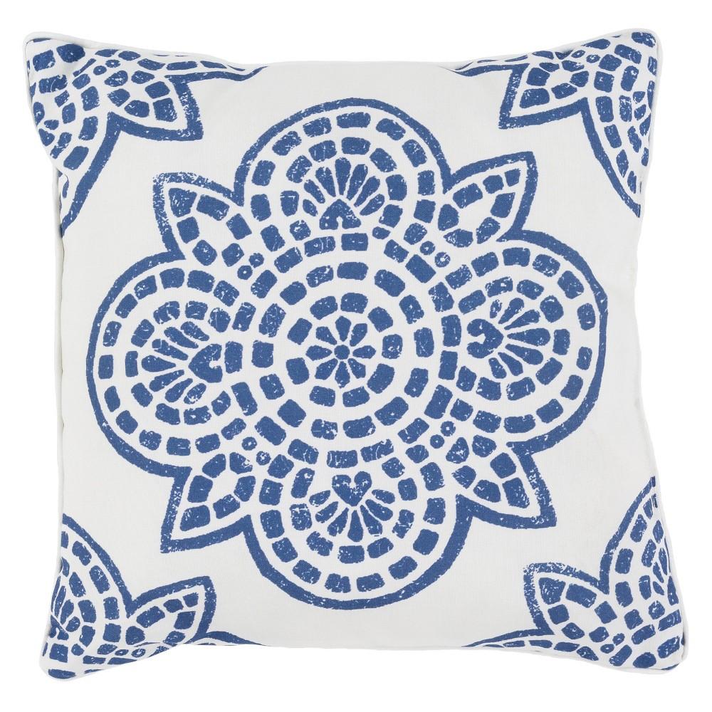 Cobalt (Blue) Arcadenia Throw Pillow 20