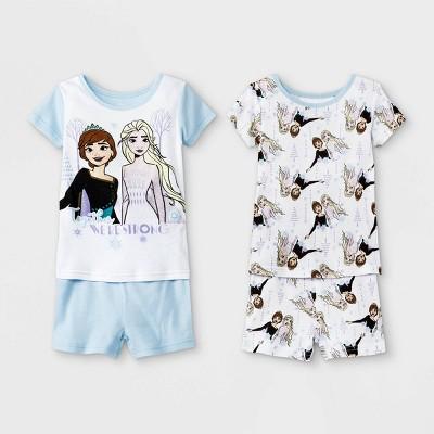 Toddler Girls' 4pc Frozen Pajama Set - Blue