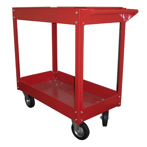 Olympia Tools 85-184 Rolling Steel Cart with 2 Shelves and Caster Wheels, Red - image 1 of 1