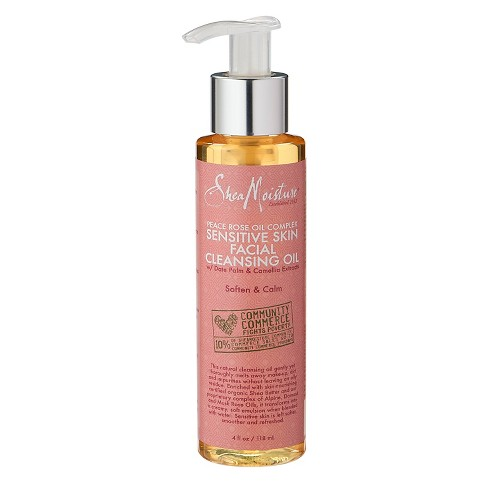 SheaMoisture Peace Rose Oil Complex Sensitive Skin Facial Cleansing Oil - 4 oz - image 1 of 1