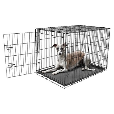 Carlson Compact and Secure Single Metal Door Dog Cage - L - Black
