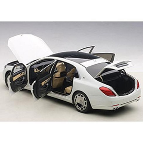 mercedes maybach s class s600 white 1/18 model carautoart : target