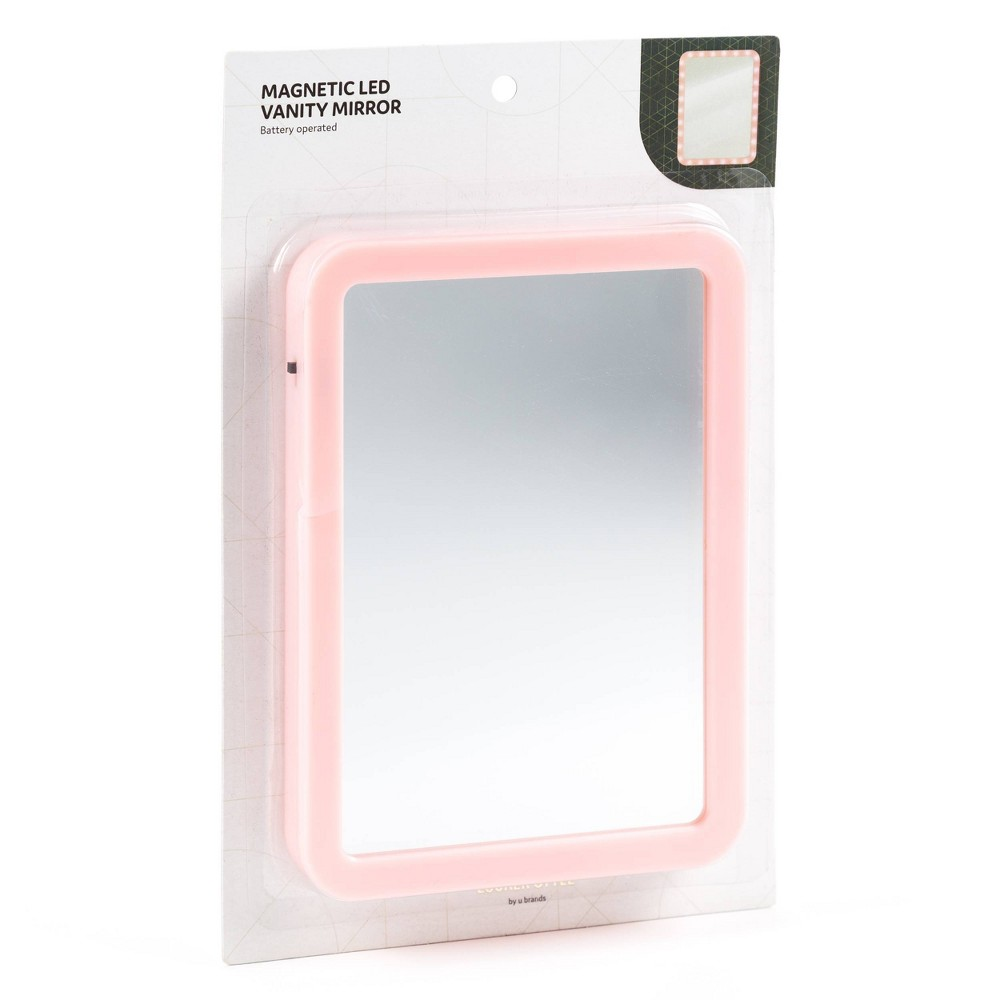 Image of Vanity Light Up Locker Mirror Pink - Locker Style by UBrands