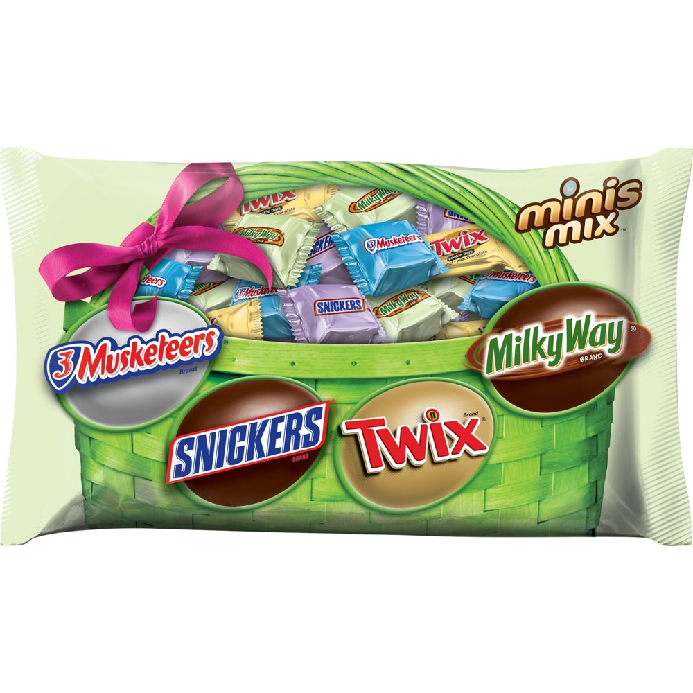 Image of 3Musketeers, Snickers, Twix and Milky Way Mini's Mix Easter Candies - 10.5oz