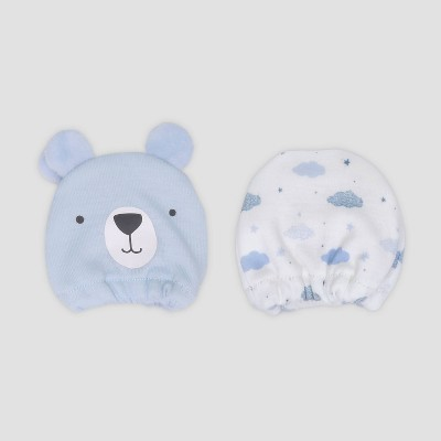 Baby Boys' 2pk Bear Mittens - Just One You® made by carter's Blue Newborn