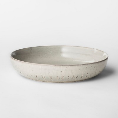 27.3oz Stoneware Solene Bowl Gray/White - Project 62™
