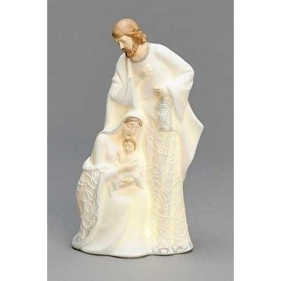 "Roman 8.75"" Pre-Lit White LED Holy Family Christmas Nativity Figurine"