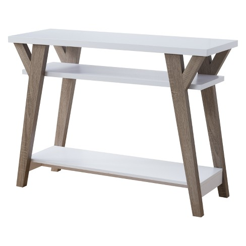 Ennis Transitional Console Table Light Oak and White - HOMES: Inside + Out - image 1 of 2