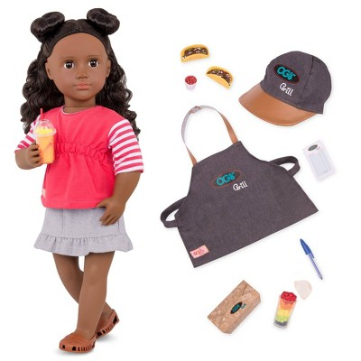 """Our Generation 18"""" Posable Food Truck Doll with Accessories - Macy"""