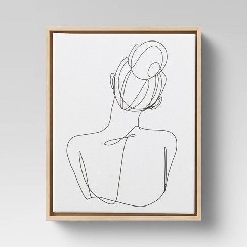 Woman Figural Wall Canvas White - Opalhouse™ - image 1 of 4