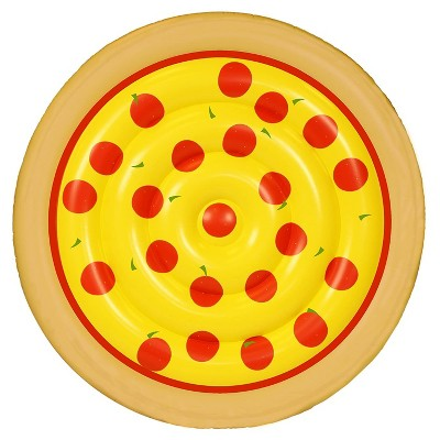 Sportsstuff Food Series 62 Inch Round Inflatable Pepperoni Pizza Swimming Pool Water Raft Floating Lounger for Pools, Lakes, and Rivers