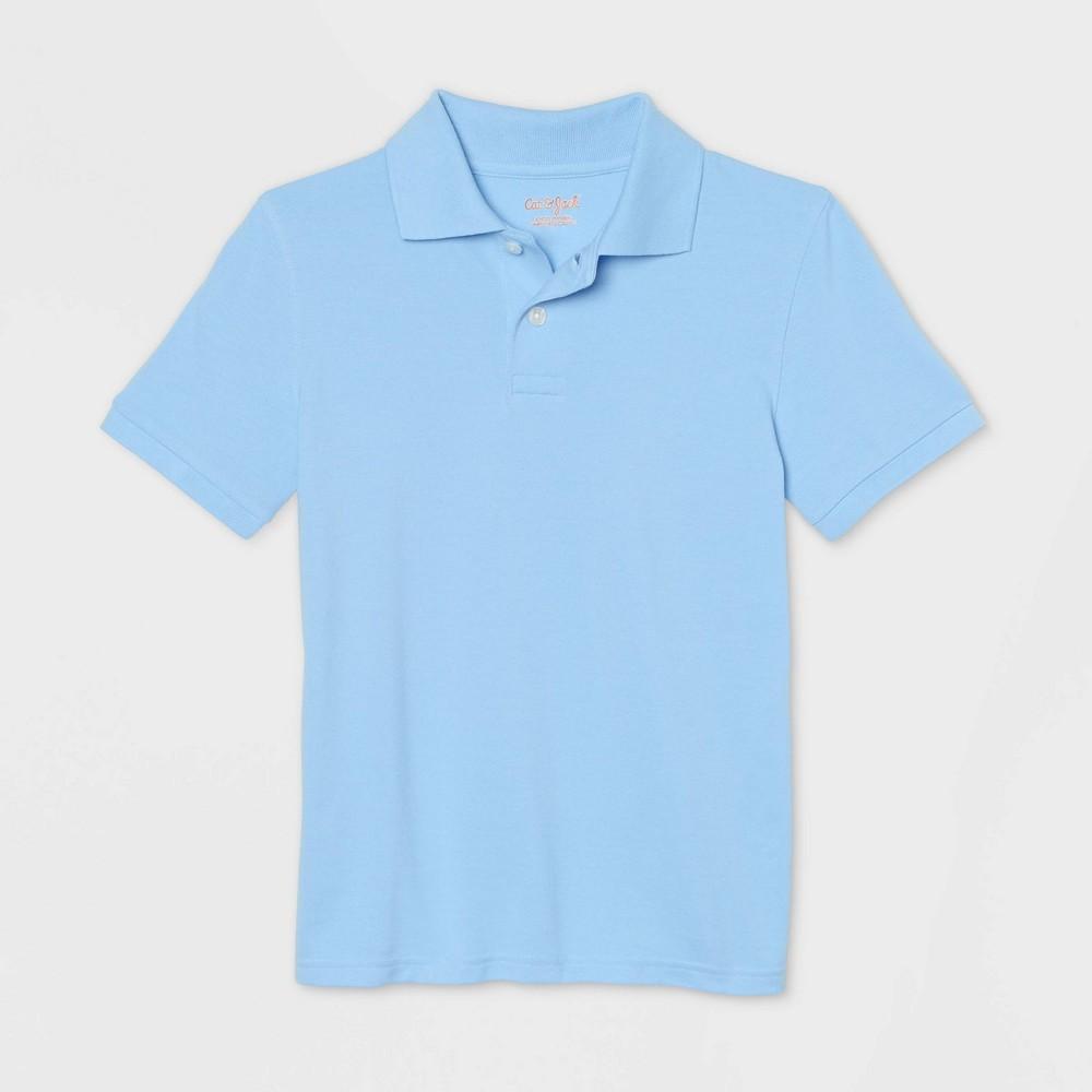 Boys 39 Short Sleeve Stretch Pique Uniform Polo Shirt Cat 38 Jack 8482 Light Blue Xxl