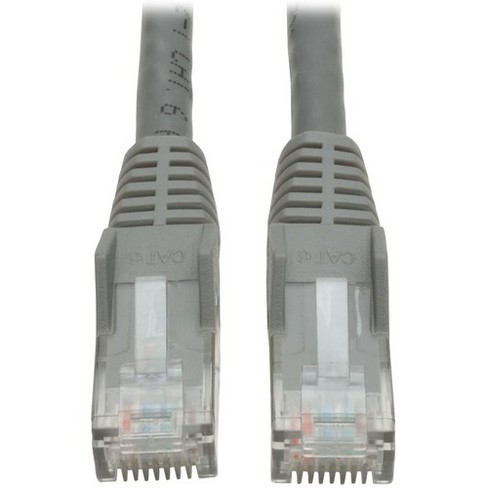 CAT6 ETHERNET PATCH CABLE 75FT GRAY CATEGORY 6 ROUTER CORD 75/' SNAGLESS RJ45 GIG