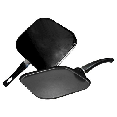 Gourmet Chef Nonstick Square Griddle Black