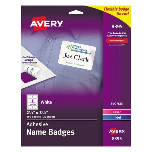 avery flexible self adhesive laser inkjet name tag badge labels 2