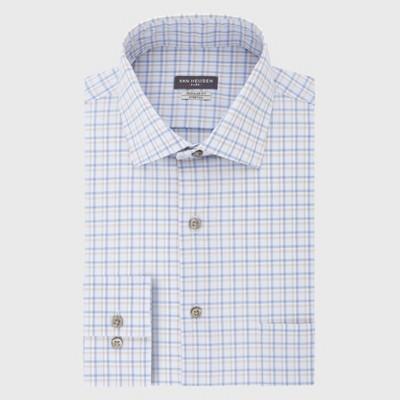 Men's Regular Fit Long Sleeve Flex Button-Down Shirt - Van Heusen