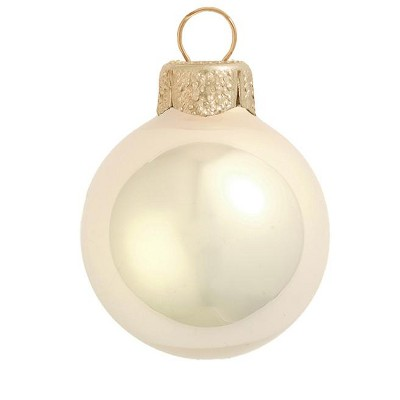 Northlight 4ct Champagne Gold Pearl Finish Glass Christmas Ball Ornaments 3.25'' (80mm)