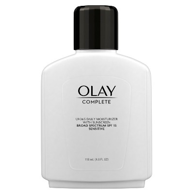 Unscented Olay Complete All Day Moisturizer Sensitive Skin SPF 15 - 4oz, Size: 4 oz