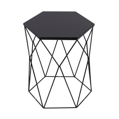 Element Geometric Side Table Midnight Black - Serta : Target