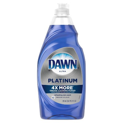Dawn Platinum Dishwashing Liquid Dish Soap Refreshing Rain - 24oz