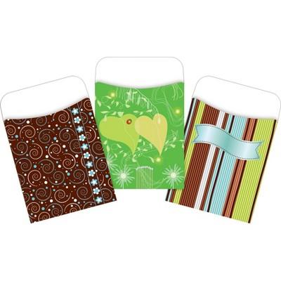 3pk 30ea Calm Colors Peel & Stick Library Pockets - Barker Creek
