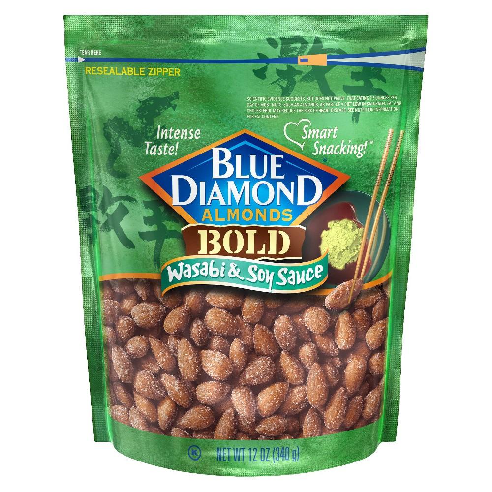 Blue Diamond Wasabi & Soy Sauce Almonds - 12oz