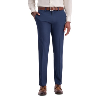 Haggar H26 Men's Slim Fit 4 Way Stretch Trousers - Heather Blue