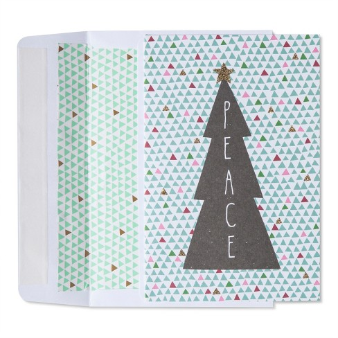 American Greetings 40ct Peace Tree Holiday Boxed Cards - image 1 of 1