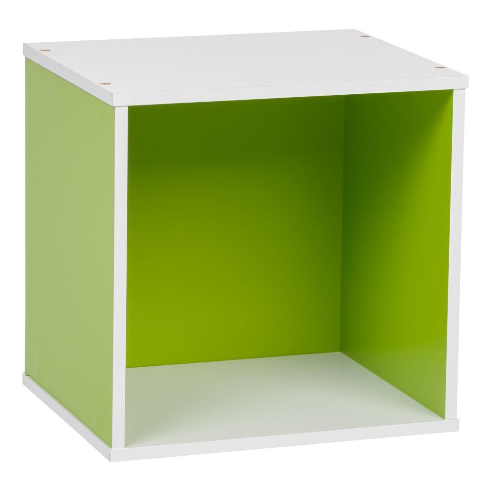 Iris Baku Wood Storage Cube Box - Green
