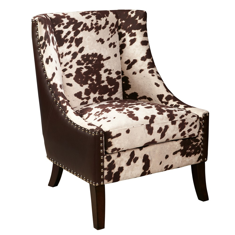 Dudley Chocolate Brown Hair On Hyde Accent Chair Brown - Pulaski