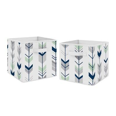 Mod Arrow Fabric Storage Bins - Sweet Jojo Designs