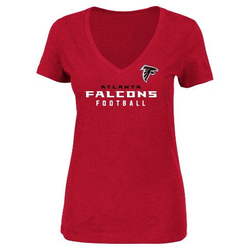 Atlanta Falcons Women's Heathered V-Neck T-Shirt - Red - image 1 of 2