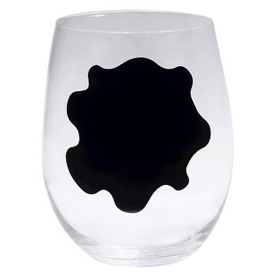 Epicureanist Stemless Chalkboard Wine Glasses 2.9oz