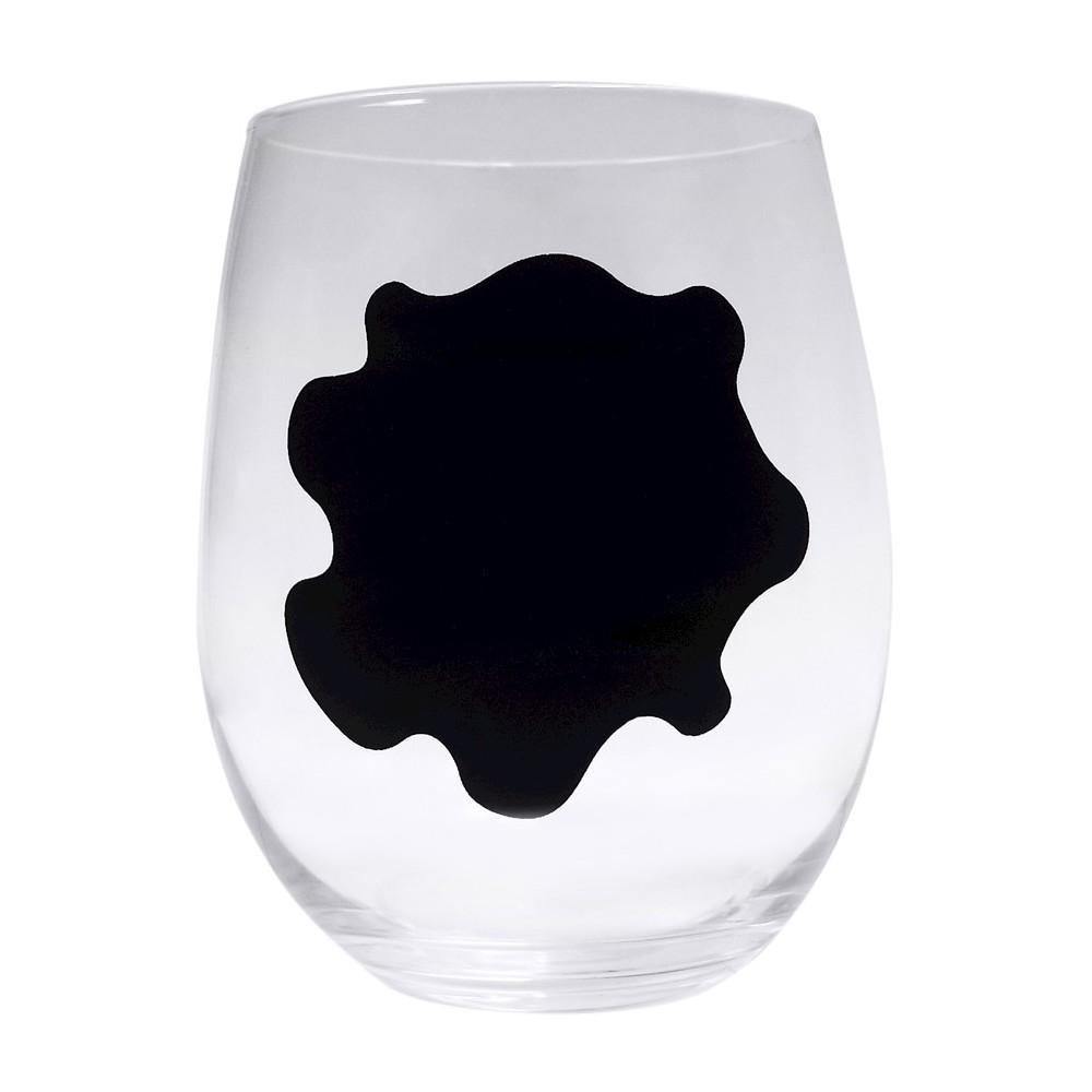 Image of Epicureanist Stemless Chalkboard Wine Glasses 2.9oz