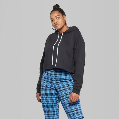 26034fe6c0c39 Women s Plus Size Cropped Hoodie - Wild Fable™   Target