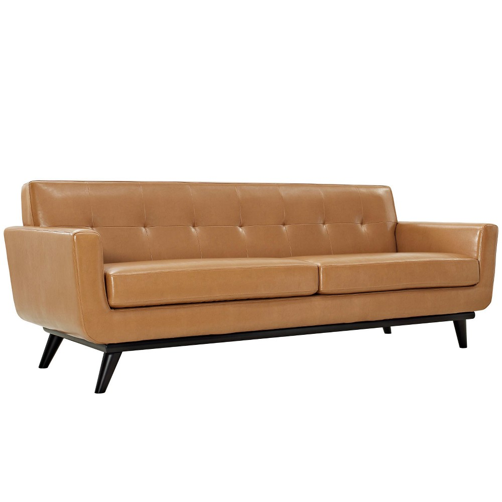 Engage Bonded Leather Sofa Tan - Modway