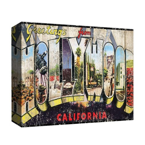 """Greetings From Hollywood I Decorative Canvas Wall Art 11""""x14"""" - PTM Images - image 1 of 1"""