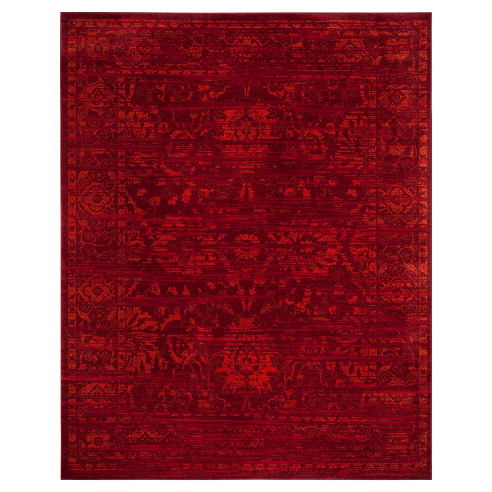 Red/orange Shapes Loomed Area Rug 8'X10' - Safavieh, Red Orange