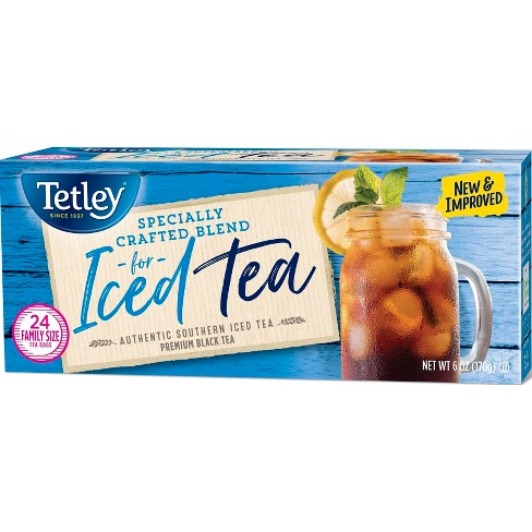 Tetley Iced Tea Blend Family Size Round Tea Bags - 24ct - image 1 of 2