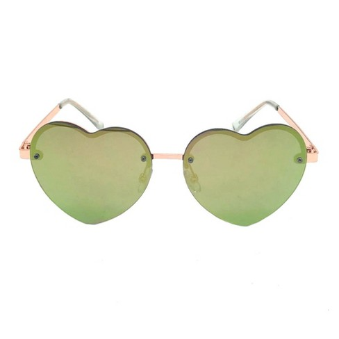 c65e8c067 Women's Heart Shaped Sunglasses - Wild Fable™ Rose Gold : Target