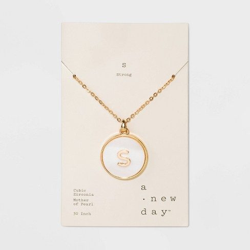 Initial Necklace - A New Day™ - image 1 of 3