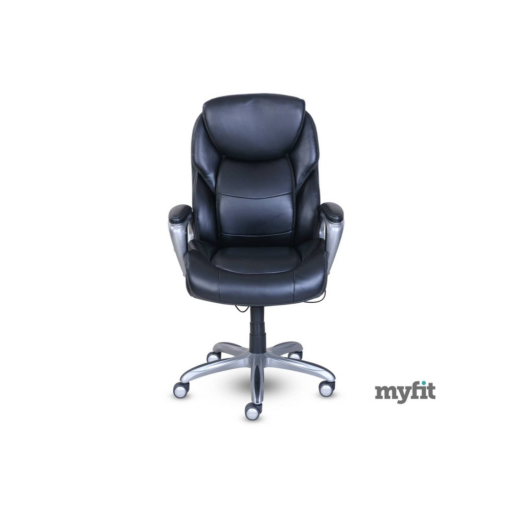 Serta Works My Fit Executive Office Chair with Active Lumbar Support Black - Serta