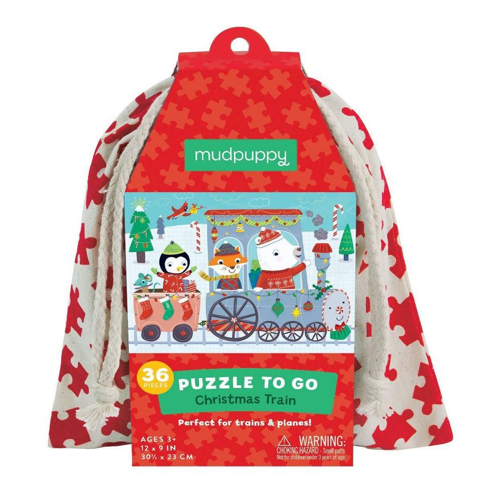 Mudpuppy Christmas Train Puzzle To Go 36pc