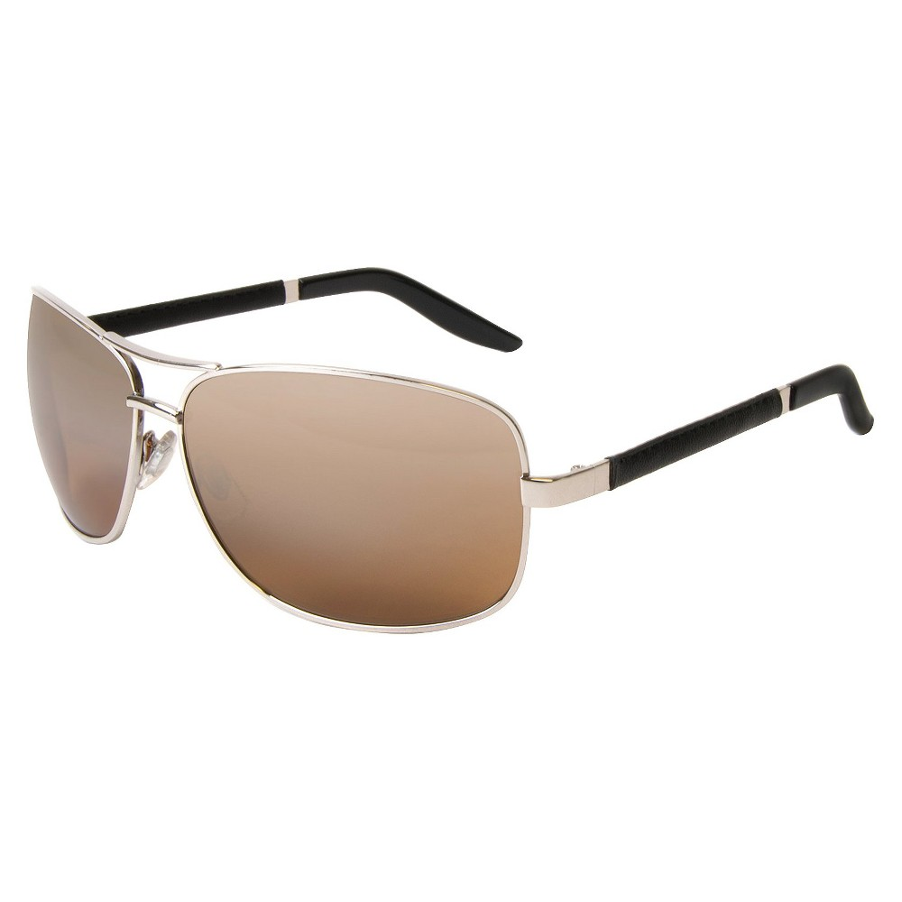 Men's Navigator Sunglasses - Silver Men's Aviator Sunglasses offer a stylish update on a classic style. They sport tinted lenses and soft nose pads. Plus, these sunglasses for men protect your eyes and the skin around your eyes from harmful UV rays. Color: Silver. Gender: Male. Age Group: Adult. Pattern: Solid.