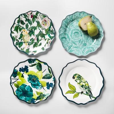 Melamine Dinner Plates 10.5  Blue/Green Set of 4 - Opalhouse™