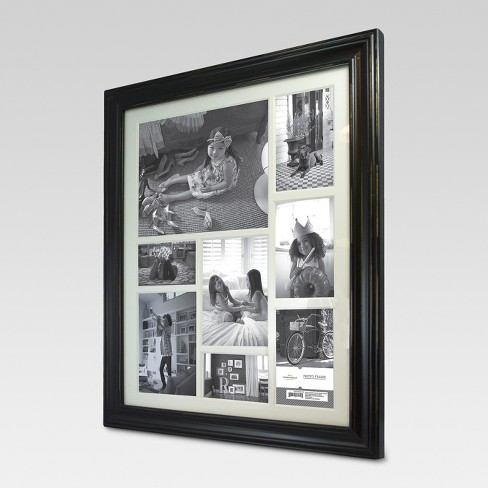 8-Opening Distressed Frame Black (16\