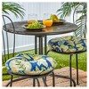 """Set of Two 15"""" Marlow Floral Outdoor Bistro Chair Cushions - Kensington Garden - image 2 of 4"""